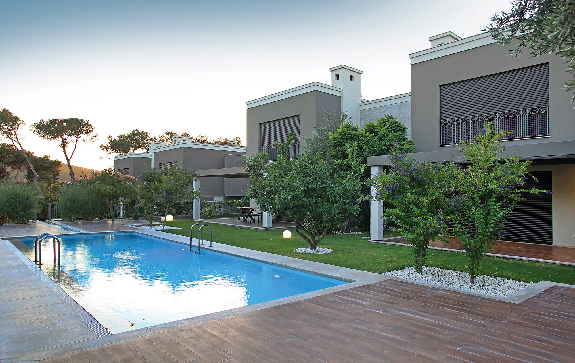 Mi'Marin Alaçatı Villaları havuz manzarası