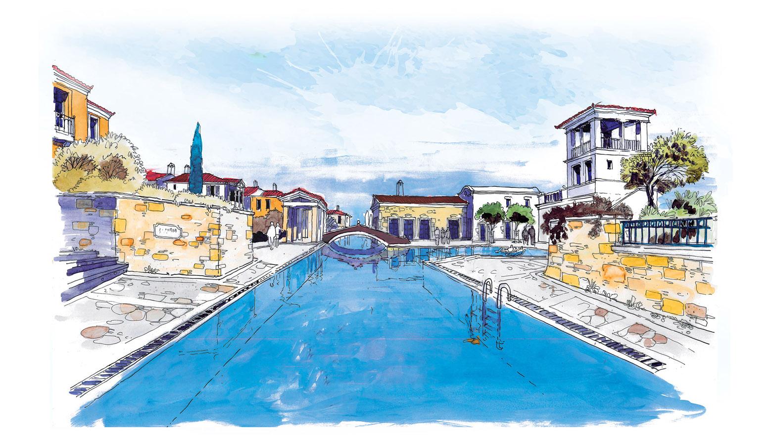 Mi'Marin Köyce Alaçatı 3D Havuz