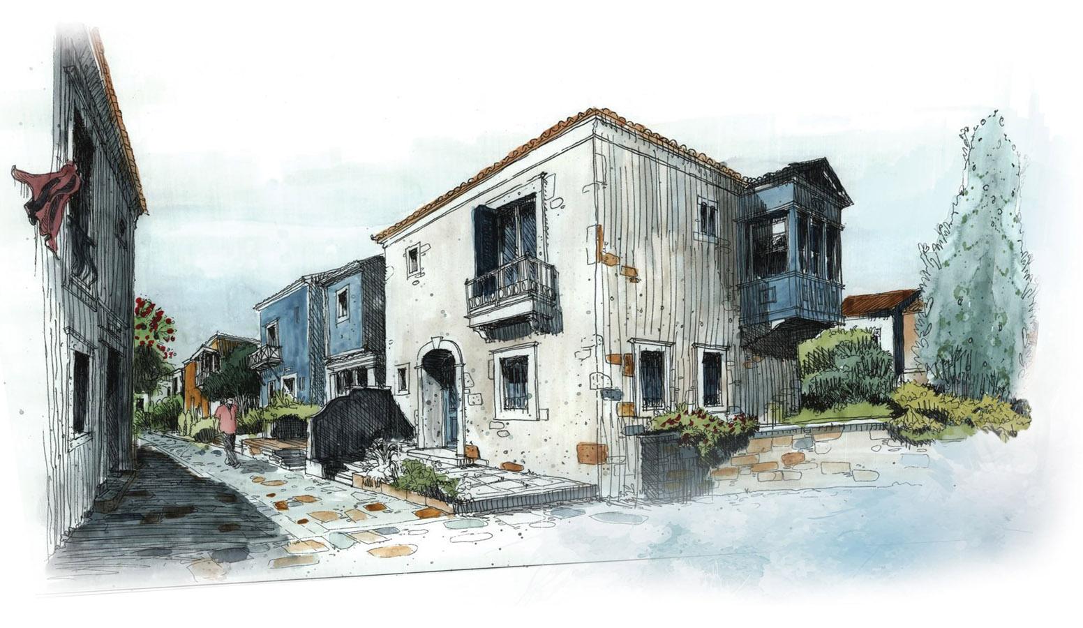 Mi'Marin Köyce Alaçatı 3D Dış Mekan