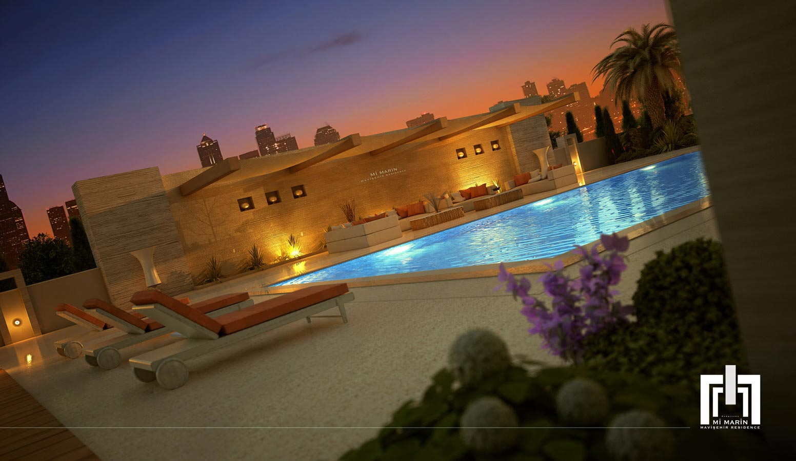 Mi'Marin Mavişehir Residence havuz