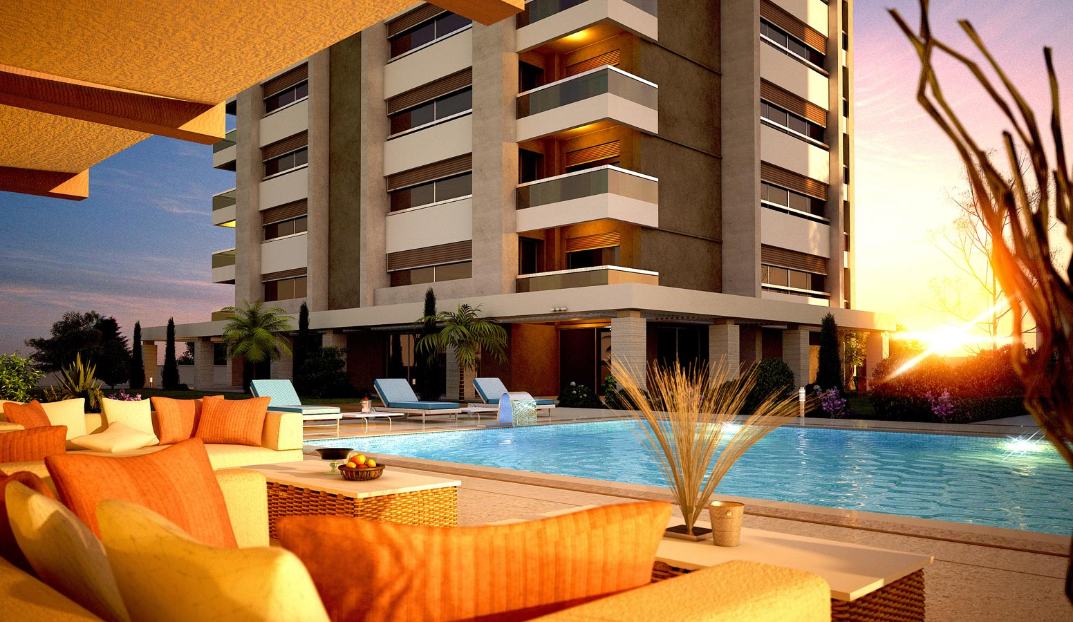 Mi'Marin Mavişehir Residence havuz manzarası